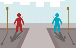 Social Distancing saves lives.